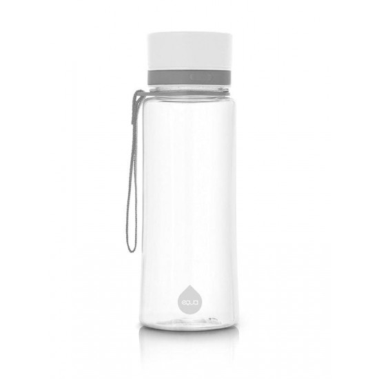 Equa Πλαστικό Μπουκάλι Plain White 600ml