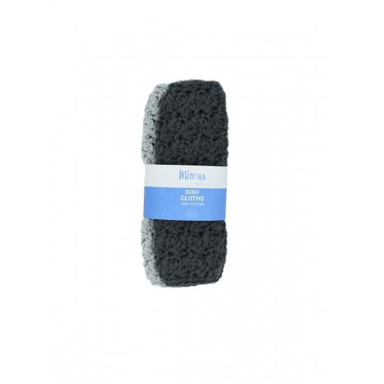 Reusable dishcloths-μαυρο/γκρι