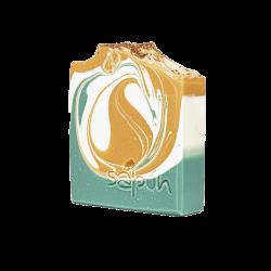 Χειροποιητο σαπουνι με Ελληνικο ελαιολαδο, αλοη και χαμομηλι 110gr- Sapon