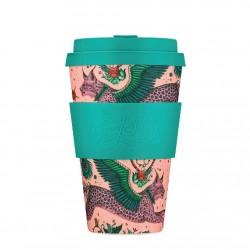 Ecoffee Bamboo Cup Lynx by Emma J. Shimpley 400ml