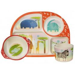 Kids 3 piece Dining Set- Ζούγκλα απο Ecoffeecup
