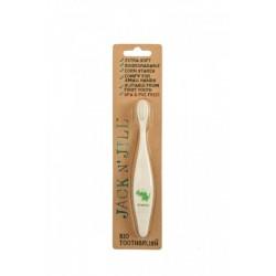 Jack n' Jill Kids Toothbrush Bio compostable and biodegradable- Dino
