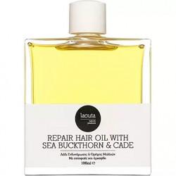 Laouta Natural Products Λάδι ενδυνάμωσης και θρέψης μαλλιών με ιπποφαές και άρκεφθο 100 ml