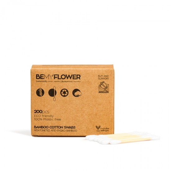 BeMyFlower Μπατονέτες απο bamboo -200 τμχ