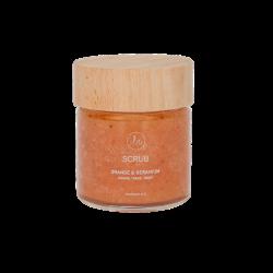 LN Handmade Scrub Orange and Geranium- Hands, Face, Body (100ml-150gr)